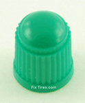 Green Tire Valve Caps